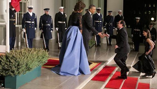 Obama, Hollande onuruna Beyaz Sarayda yemek verdi galerisi resim 1