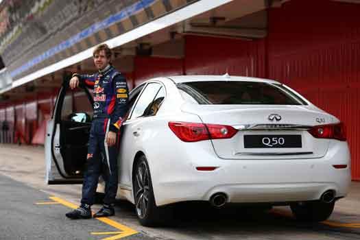 Infinitilerden Vettel sorumlu