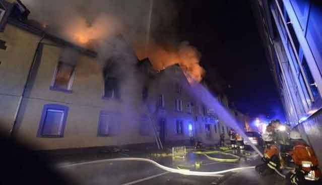 Almanyaya yangın dehşeti