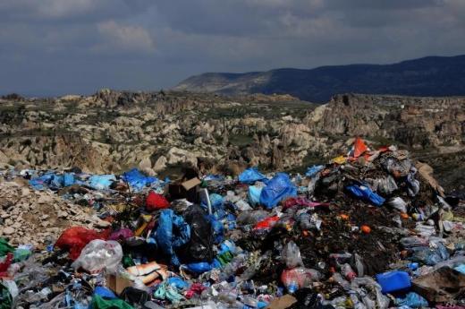 Kapadokyada çöp vadisi!