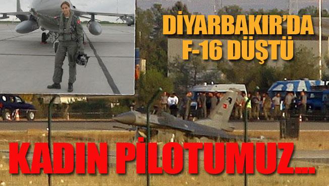 F-16 düştü..Kadın pilot yüzbaşı...