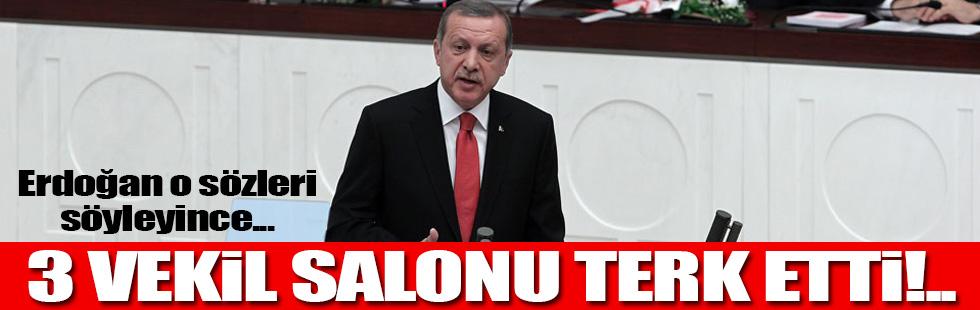 Erdoğan'ın o sözleri salonu terk ettirdi