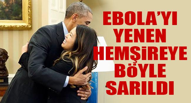 Obama Ebola'yı yenen hemşireye sarıldı