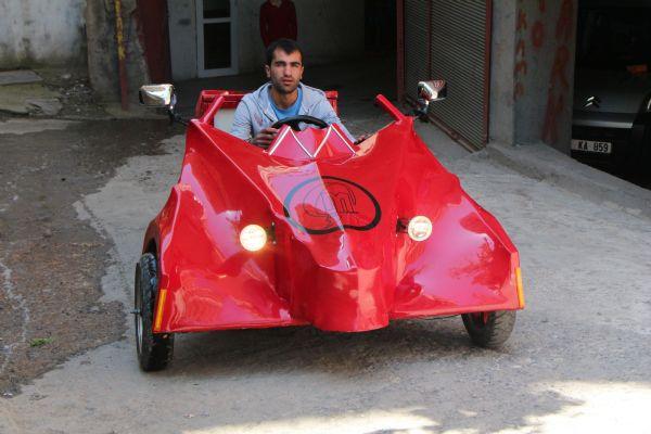 Hayalindeki arabayı yaptı
