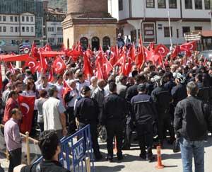 Amasyada Akillere büyük protesto