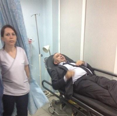 Gazdan etkilenen CHPli Tekin hastanede