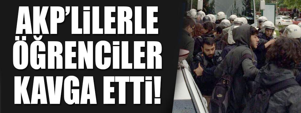 AKP'li gençler ile üniversiteliler kavga etti