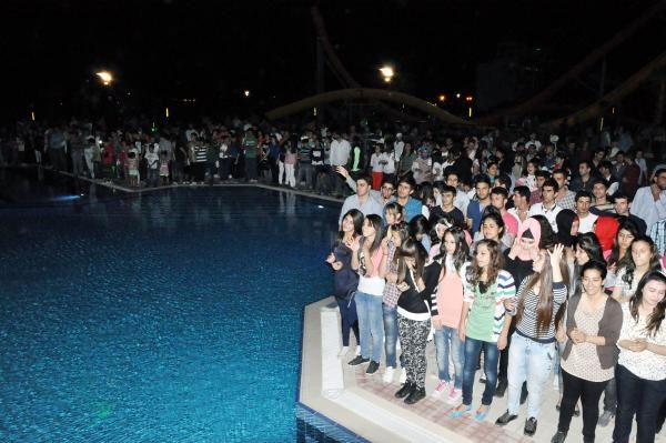 Mardinde havuz başı partisi