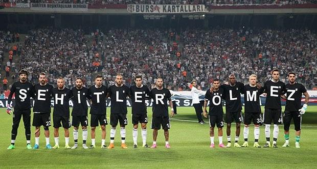Beşiktaştan şehitler ölmez mesajı