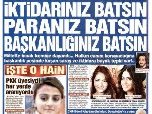 Erdoğan Sözcüye Paçavra dedi