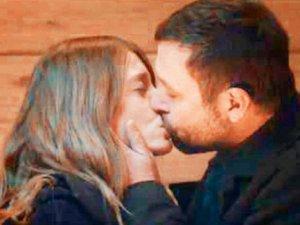 Serenay ile Nejat dudak dudağa