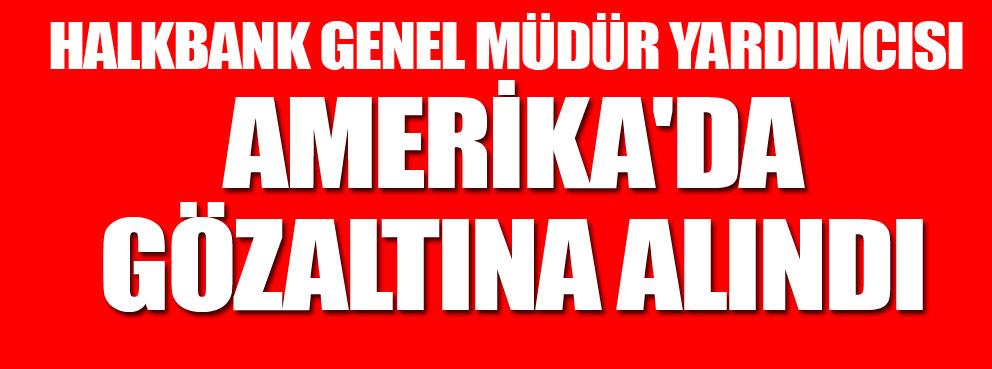 Halkbank Genel müdür yardımcısıAmerikada gözaltına alındı