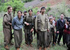 Çekilmeyi izlemeye gidenleri PKKlılar geri çevirdi