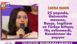 Kazakistandan evlenmeye geldi