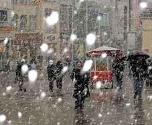 Marmaraya kar geliyor