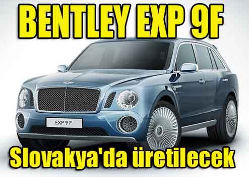 Bentleyin EXP 9F 2015te pazarda