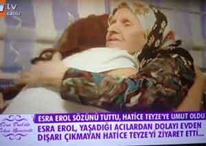 Esra Erol yaşlı kadına umut oldu