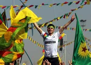 Nevruz kutlaması PKK şovu oldu