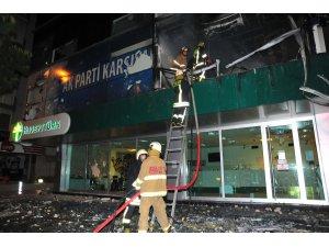 AKP binasını ateşe verdiler