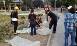 Gençler taşları topladı