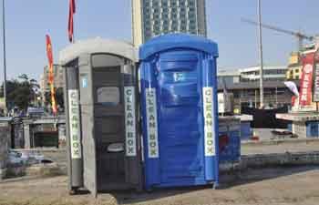 Seyyar Tuvaletler Kuruldu