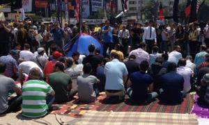 Gezi Parkında cuma koruması!