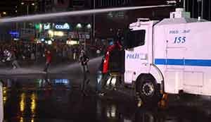 Ankarada yine olaylı gece