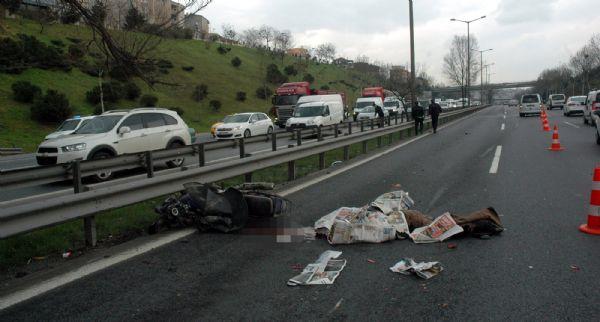 Motorlu sürücü aşırı hız kurbanı!