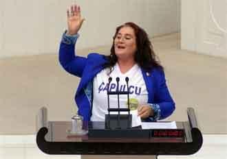 Mecliste çapulcu tişörtü!