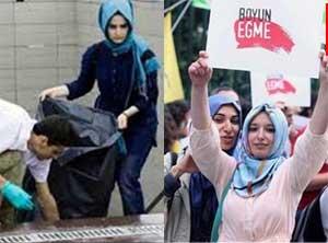Türbanlı kızlara saldırdılar iddiasına fotoğraflı cevap