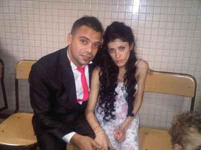 Damat elbisesi ile düğünden cezaevine