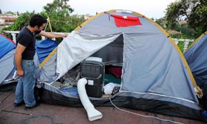 Klimalı eylemci çadırı!