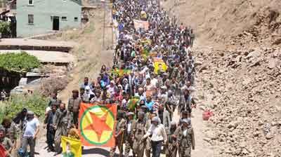 Kato Dağındaki festivalde 2 PKKlının cenazesi teslim edildi